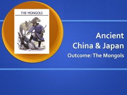 Ancient China & Japan - Eastern Upper Peninsula ISD