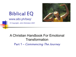Biblical EQ - Free Bible Study Online Courses That Usher