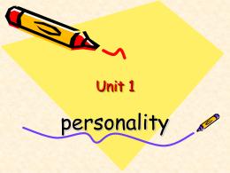 Unit 1--preparation