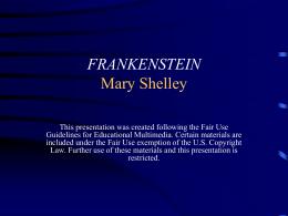 FRANKENSTEIN - Mona Shores Public Schools