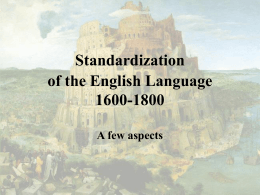 Codifying the English Language - uni