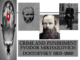 CRIME AND PUNISHMENT Fyodor