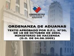 ORDENANZA DE ADUANAS - Servicio Nacional de …