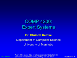 COMP 4200 - University of Manitoba