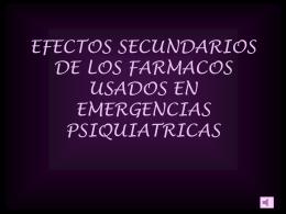 EFECTOS SECUNDARIOS DE LOS FARMACOS USADOS EN …