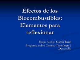 Riesgos de los Biocombustibles