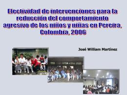 EFECTIVIDAD DE INTERVENCIONES COMUNITARIAS EN LA