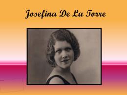 Josefina de la Torre - Gobierno de Canarias