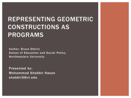 REPRESENTING GEOMETRIC CONSTRUCTIONS AS …