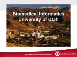 Introduction to Department of Biomedical Informatics, the