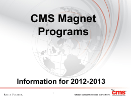 Magnet Programs Presentation for 2012-2013