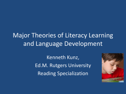 Major Theories of Literacy Learning and Language …