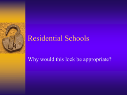 Residential Schools - HRSBSTAFF Home Page