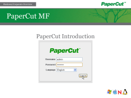 PaperCut MF - Business Features