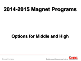 Magnet School Options for 2014-2015