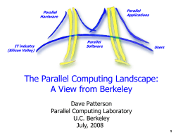 The Berkeley View: A New Framework & a New Platform …