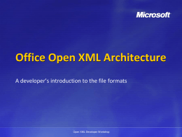 Office Open XML Packaging