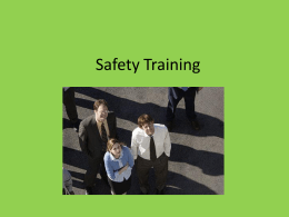 Safety Training - University of Texas at Austin