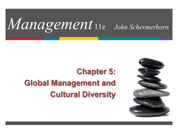 Chapter 5: Global Dimensions of Management