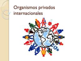 Organismo internacionales privados