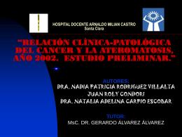 HOSPITAL DOCENTE ARNALDO MILIAN CASTRO Santa …