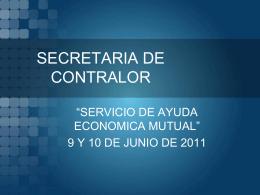 SECRETARIA DE CONTRALOR