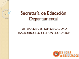 SECRETARIA DE EDUCACION DEPARTAMENTAL