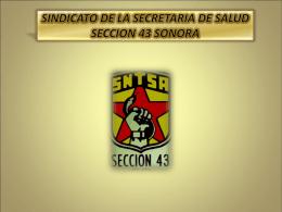 SINDICATO DE LA SECRETARIA DE SALUD SECCION 43 …