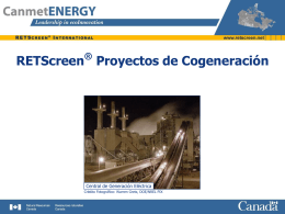 RETScreen CHP Project Analysis