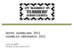 OHIKO ASANBLADA 2011 ASAMBLEA ORDINARIA 2011