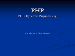 PHP PHP: Hypertext Preprocessing