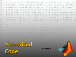 Vectorized Code - Appalachian State University