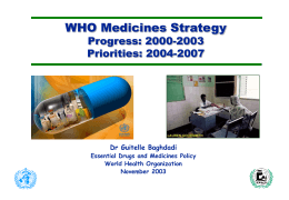 WHO Essential Drugs Strategy