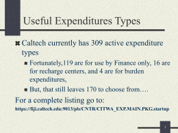 Expenditure Types Presentation
