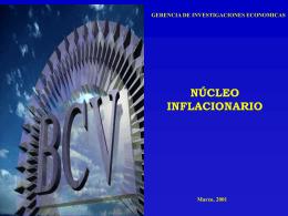 inflacion subyacente - BANCO CENTRAL DE VENEZUELA
