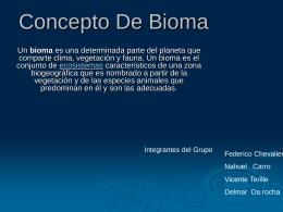 Concepto de Bioma - Liceoweblog's Weblog