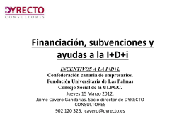 DEDUCCIONES FISCALES I+D+i, medioambiente