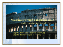 Classical Foreign Language Latin