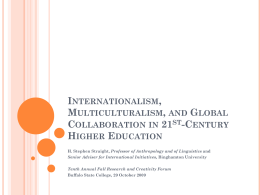 Global Collaboration in the Service of International and