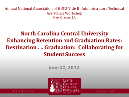 North Carolina Central University Retention and Graduation