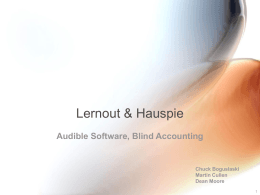 Lernout & Hauspie