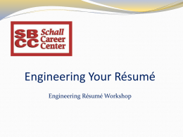 Resume Rocket Science - Santa Barbara City College