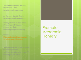 Promote Academic Honesty