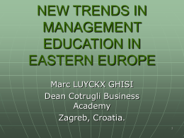 MANAGEMENT EDUCATION IN CROATIA