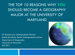 Why Should You Become a GIS Major at the University of