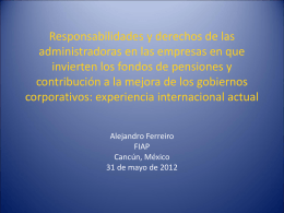 Responsabilidades y derechos de las administradoras en …