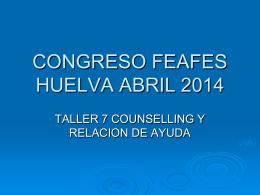CONGRESO FEAFES HUELVA ABRIL 2014