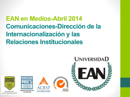 EAN en Medios Abril 2014