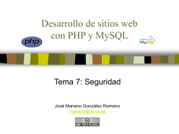 Desarrollo de sitios web con PHP y MySQL