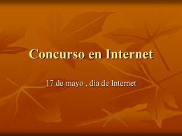Concurso en Internet